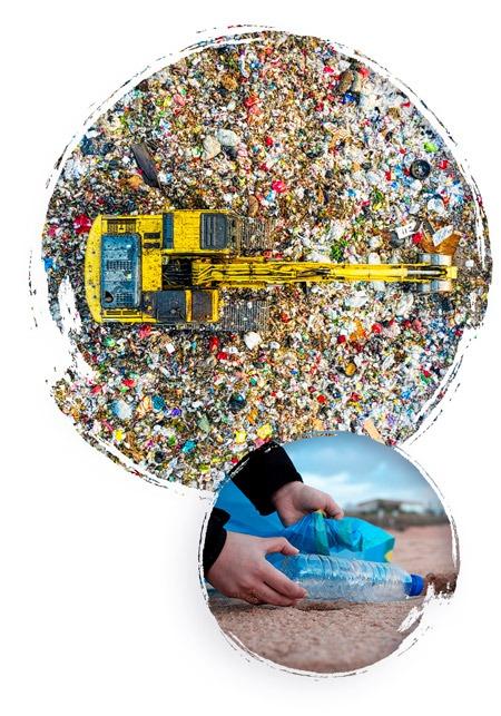 collecte et tri des déchets plastique